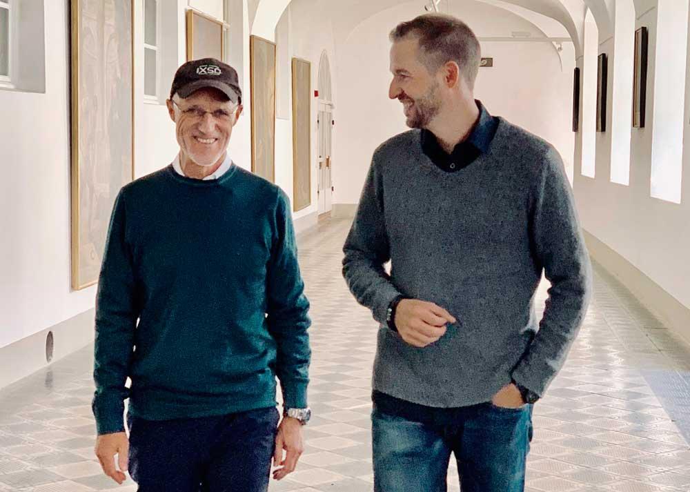 Intensiver Austausch: Toni Innauer und Klösterreich-Geschäftsführer Manuel Lampe